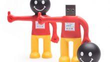 USB-Silikon-Figur in Deutschlandfarben