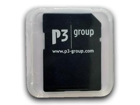 Kundenbeispiel: Bedruckte SD-Card verpackt in einer transparenten Jewelcase.