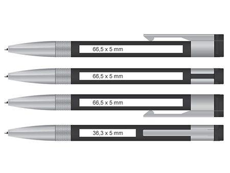 Pantone-Siebdruck oder Lasergravur auf vier Positionen