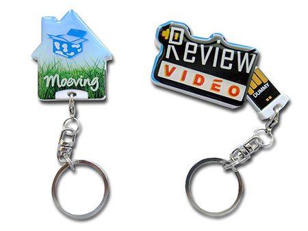 Bei diesen zwei Anschlussvarianten sind die Schlüsselanhänger immer fest konfektioniert