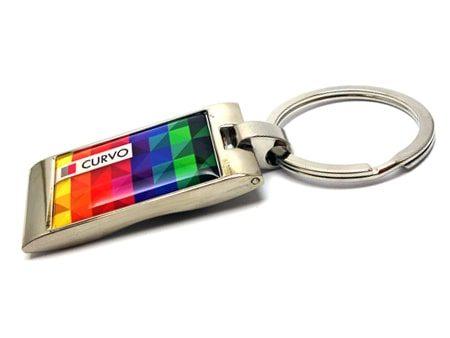 Flacher luxuriöser Schlüsselanhänger