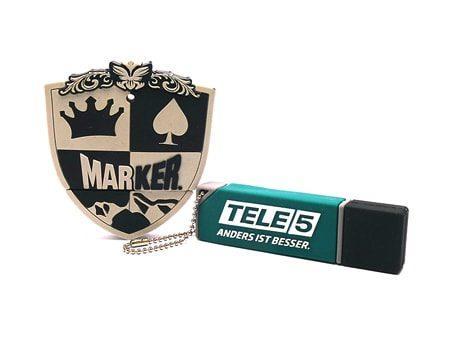 "USB-Modell ""3D-Form-Stick"" Tele 5 Marker"