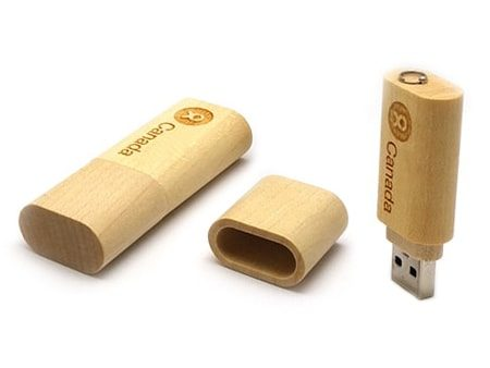 USB Kanada Holz mit edler Lasergravur