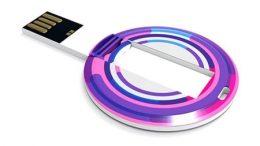 Runde USB-Karte mit Logodruck