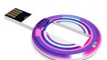Günstige runde USB-Kunststoffkarte