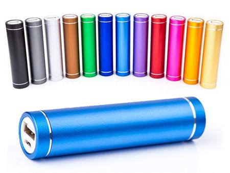 Unsere Powerbank Tube ist ab sofort in 12 verschiedenen Farben ab Lager erhältlich.