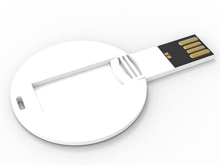 Weißer Kunststoff mit langer USB-Klappe