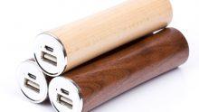 Praktische Powerbanks aus Holz