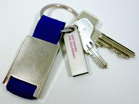 Einfaches Anbringen am Schlüsselbund