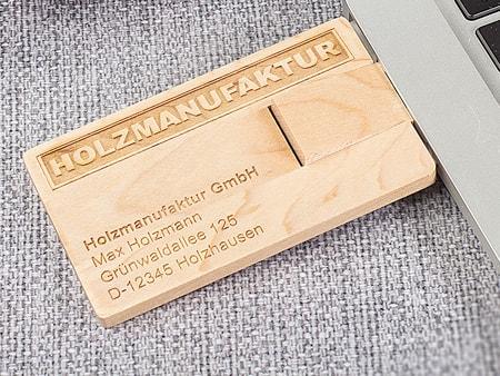Usb Visitenkarte Holz Medienagentur Kraus