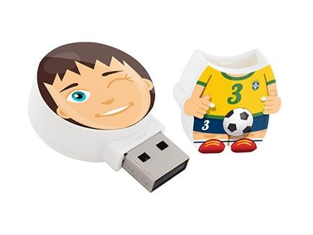 USB-Figur im Fußball-Outfit