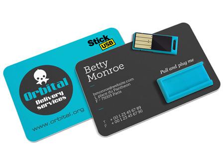 Dieser USB-Werbeartikel kann auch ohne Bedruckung geliefert werden