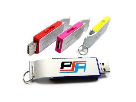 Farbige USB-Alu-Flaschenöffner mit Werbedruck