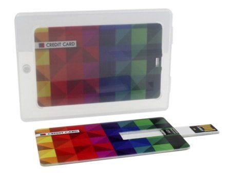 USB-Visitenkarte mit transparenter Magnetbox