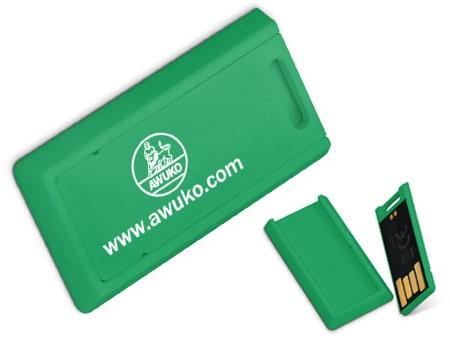 Beliebter USB-Stick zum Kleben