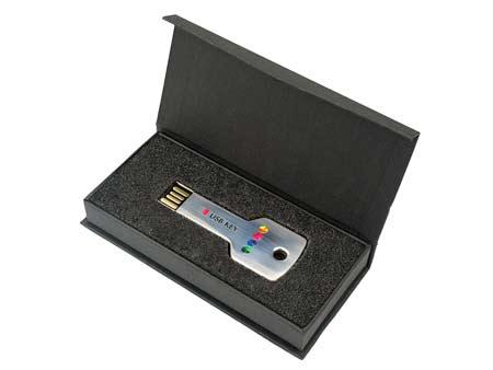 Passende Stülpdeckelbox für USB-Key-Standard.