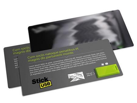 Ein günstiger USB-Stick in einem Papierformat integriert
