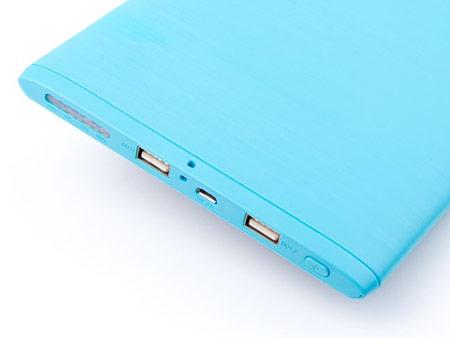 Große Druckoberfläche und 2 x USB-Anschlüsse