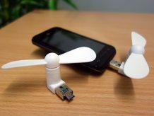 Kunststoff-Ventilator mit USB- und Micro-Schnittstelle