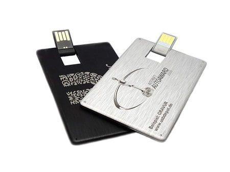 Hochwertige und edle USB-Alu-Karten