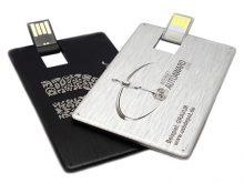 Edle Lasergravur auf der USB-Alukarte
