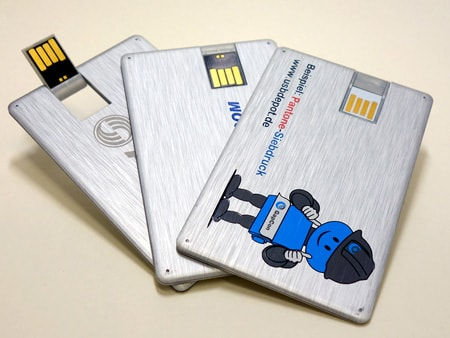 Edle USB-Aluvisitenkarten