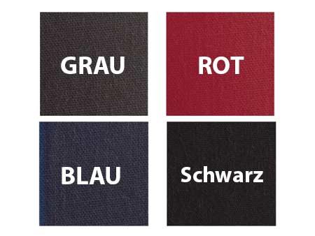 Vier Standardfarben stehen zur Auswahl