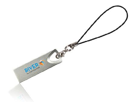 Beispiel: USB-Stick am Handyband konfektioniert