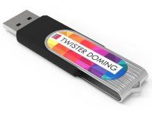 Günstiger USB-Stick mit großer Doming-Druckfläche