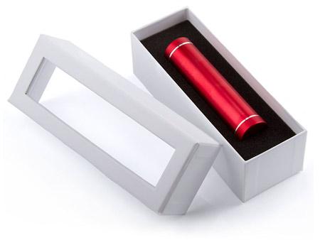 Weiße Stülpdeckelbox mit Schaumstoffeinlage und Sichtfenster