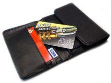Hochwertige RFID-Karte mit Rundumschutz für die Geldbörse