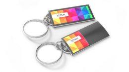 Hochwertiger Metall-Schlüsselanhänger mit glänzendem Gehäuse