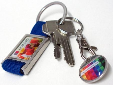 Werbe-Schlüsselanhänger mit Einkaufswagenchip