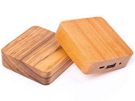 "Powerbank ""Holz-Quadrat"" Powerbank Holzdesign hochwertige Verarbeitung"