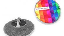 Metall-Pins mit farbigen Domingdruck