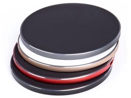 Verschiedene Alu-Ringfarben: rot, gold, silber oder schwarz