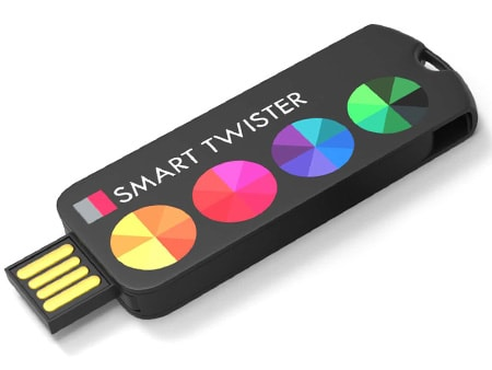 Länglicher USB-Stick aus Kunststoff