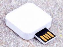 Weißer quadratischer USB-Stick