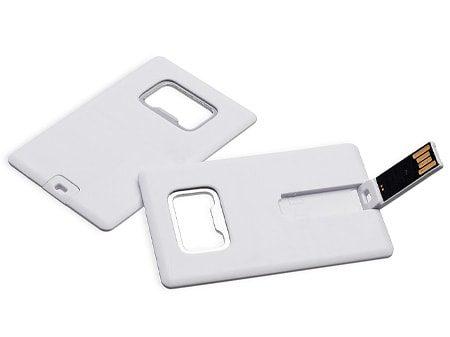 Flaschenöffner, Visitenkarte und USB-Stick in einem Produkt