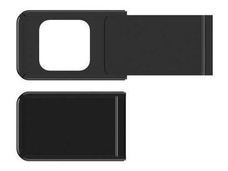 """Schwarzes Webcam-Cover """"Alu-Square"""""""