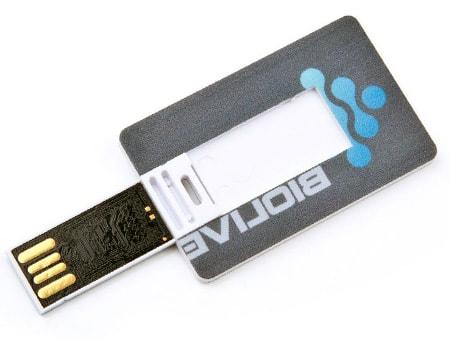 Mini-USB-Karte als Werbeträger