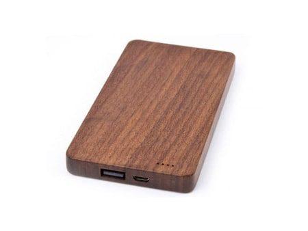 Nachhaltige Powerbank Wood Long