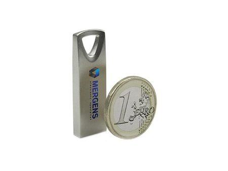 Kleiner und kompakter USB-Metall-Stick mit dreieckiger Ringöse