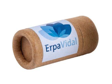 Kompostierbare Lippenpflege mit einer Push-Up-Hülse