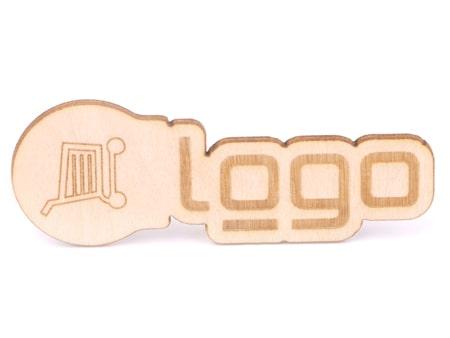 Individuelle Logo Shapeform aus Holz für Ihren Einkaufswagenlöser