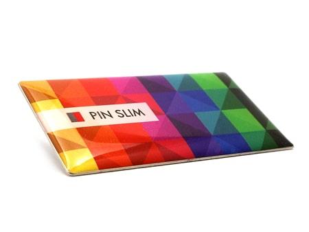 Hochauflösender und randloser Domingdruck auf dem Slim Pin