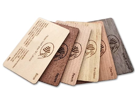 rfid Blockerkarte aus Holz