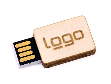 "USB-Modell ""Holz-Square"" Naturprodukt aus Holz"