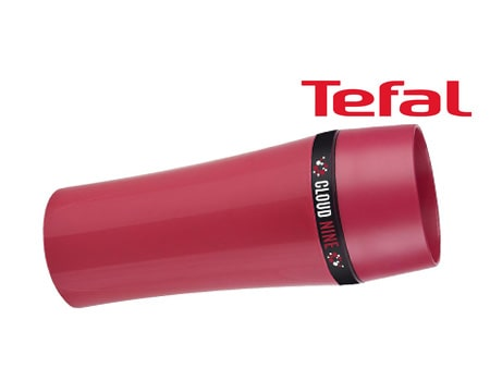 "rote Tefal-Trinkflasche ""Travel SLIM"""
