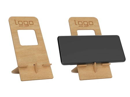 Handyhalter aus FSC zertifiziertem Holz